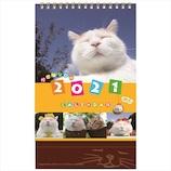 【2021年版・卓上】学研ステイフル かご猫 卓上カレンダー M09093