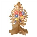 【クリスマス】 学研ステイフル クリスマスカード インテリア ミュージック ゴールド X15820