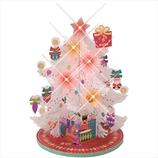 【クリスマス】学研 ライト付卓上メドレー クリスマスカード X14806 ホワイト