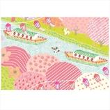 学研 桜イラストポストカード AE15869 屋形船