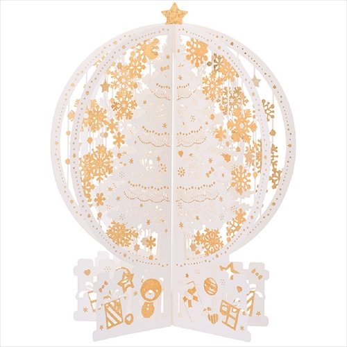 【クリスマス】 学研 クリスマス箔レーザーポップ X56006 ホワイト