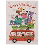 【クリスマス】 学研 クリスマスネコポップカード X38550 合唱