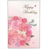 学研 バースデイレーザーポップカード B48057 バラ│カード・ポストカード バースデー・誕生日カード