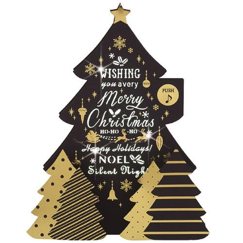 【クリスマス】 学研 クリスマスカード アクリルミュージック X16802