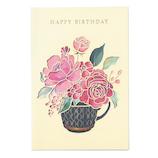 学研ステイフル 誕生日カード レーザー フラワー B38288 レッド