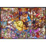 テンヨー 美女と野獣 ストーリー ステンドグラス DP-1000-035 1000ピース│パズル ジグソーパズル