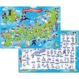 テンヨー ミッキーと日本地図であそぼうよ! 60ピース│パズル ジグソーパズル
