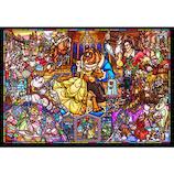 テンヨー 美女と野獣 ストーリー ステンドグラス DSG-500-667 500ピース│パズル ジグソーパズル
