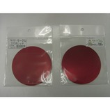 久宝金属 カラーアルミサークル 径100×0.5mm レッド 1枚入