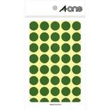エーワン カラーラベル 15mm丸 緑