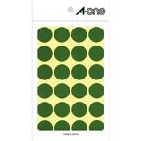 エーワン カラーラベル 20mm丸 緑