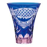東洋佐々木 彩花切子 タンブラー 瑠璃 HG230-19 ブルー