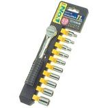 GISUKE ホルダー付ソケットレンチセット ミリサイズ 6.35mm│レンチ ソケットレンチ