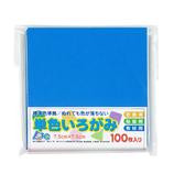 アイアイ 単色いろがみ 7.5cm No.11 コバルトブルー 100枚入│折り紙・和紙工芸 折り紙