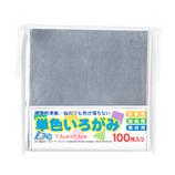 アイアイ 単色いろがみ 7.5cm No.40 ぎん 100枚入│折り紙・和紙工芸 折り紙