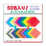 アイアイ 50色おりがみ 25cm角 60枚入│折り紙・和紙工芸 折り紙