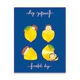 マインドウェイブ Fruitful days スクエアメモ 56807 LEMON MOOD