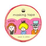 マインドウェイブ マスキングテープ ダイカット 92742 パーティーピーポー