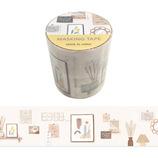 マインドウェイブ マスキングテープ ラビングルーム 45mm 95085 アイボリー│シール マスキングテープ