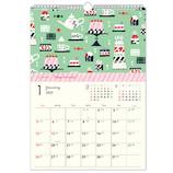 【2020年版・壁掛】 クローズ・ピン TomokoHayashi B4壁掛けカレンダー CL95512