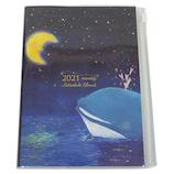 【2020年10月始まり】 クローズ・ピン 吉田麻乃 マンスリースケジュール B6 SB96347 星空クジラとお月さま 月曜始まり