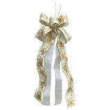 【クリスマス】 リボン HSM-5226  ホワイトゴールド