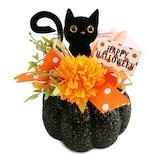 【ハロウィーン】 マンキッキ パンプキンベースアレンジ クロネコ HP-5780A