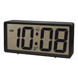 誠時 ジェイド LCD−008 ブラック│時計 置き時計