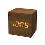 木目調LEDクロック リヒト S LED-113 ブラウン