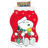 【クリスマス】 スヌーピー クリスマスコンフェクショナリージッパーバッグ│非常食 乾パン・お菓子