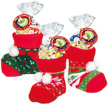 【クリスマス】 エイム クリスマス ソックスブーツM 【店頭のみ商品】│非常食 乾パン・お菓子