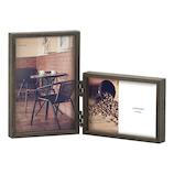 木製フレームL判×2枚 LA09-LPD-DBR│アルバム・フォトフレーム フォトフレーム・写真立て