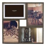LANGLE 木製フォトフレーム LA09-40-DBR ダークブラウン│アルバム・フォトフレーム フォトフレーム・写真立て
