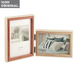東急ハンズオリジナル 2枚飾れる木製フレーム アイボリー│アルバム・フォトフレーム フォトフレーム・写真立て