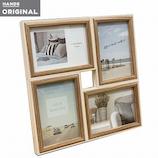 東急ハンズオリジナル 4枚飾れて壁掛けできる木製フレーム L アイボリー│アルバム・フォトフレーム フォトフレーム・写真立て