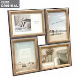 東急ハンズオリジナル 4枚飾れて壁掛けできる木製フレーム L ネイビー│アルバム・フォトフレーム フォトフレーム・写真立て