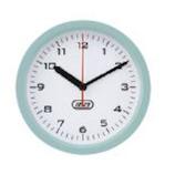 ラドンナ 防沫バスクロック TF24−CL−PA ペールアクア│時計 壁掛け時計