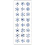 オクヤマ グリッターシール 雪の結晶 3列 GE054│シール シール・ステッカー