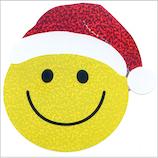 【クリスマス】 オクヤマ ラージシール XL046 スマイルサンタ