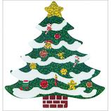 【クリスマス】 オクヤマ ラージシール XL070 クリスマスツリー
