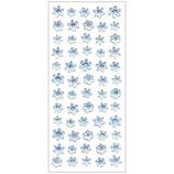 オクヤマ 樹脂盛りシール 雪の結晶5列 XH054