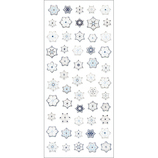 オクヤマ 和風シール JC054 雪の結晶