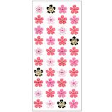 オクヤマ 和紙シール 桜4列濃いピンク JF878
