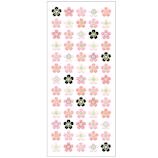 オクヤマ 和風シール 図形桜5列 JF978