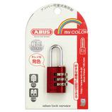 ABUS マイカラー可変式南京錠 145/20レッド