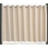 遮光 パステルバスカーテン ベージュ 135×90cm
