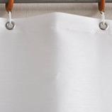 サンローズ シャワーカーテン シャーベット 幅142×丈180cm ホワイト 1枚入