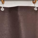 サンローズ シャワーカーテン シャーベット 幅142×丈180cm ブラウン 1枚入│お風呂用品・バスグッズ シャワーカーテン