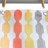 サンローズ シャワーカーテン レイン 幅142×丈150cm オレンジ 1枚入│お風呂用品・バスグッズ シャワーカーテン
