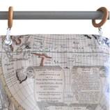 サンローズ シャワーカーテン ロジャー 幅142×丈150cm ベージュ 1枚入
